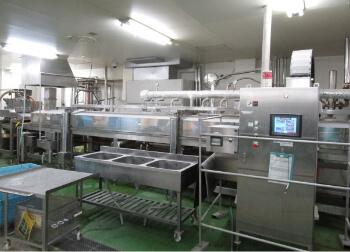 肉ミンチ類生産の量産化調理ライン